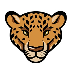 leopard calm vector image vector image