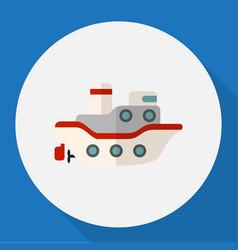 Of car symbol on ship flat vector