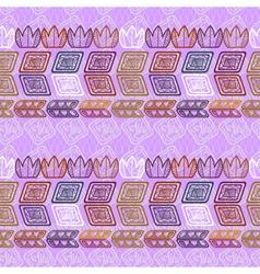 Seamless ethnic purple pattern vector image