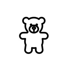teddy bear plush thin line icon outline symbol vector image