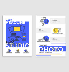 brochure design template - photography vector image vector image