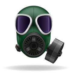 gas mask 02 vector image vector image