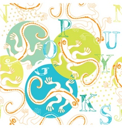 lizard and alphabets vector image vector image