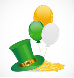St Patricks Day hat vector image vector image