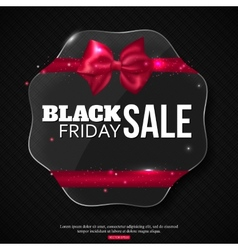 Black friday sale background with shining glass vector image