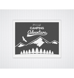 Camping frame template with travel poster vector image vector image