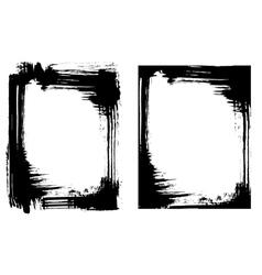Grunge brush smear frame 2 variations vector image