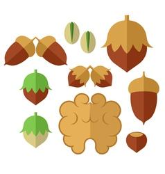 Nuts Icon set vector image vector image