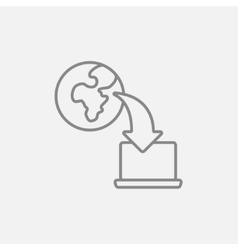 Online education line icon vector