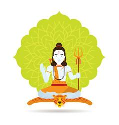 shiva hindu god or deity vector image