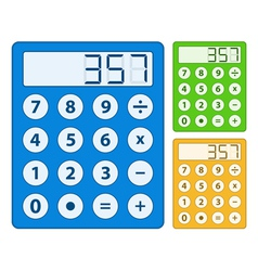 Simple calculator icon vector image vector image