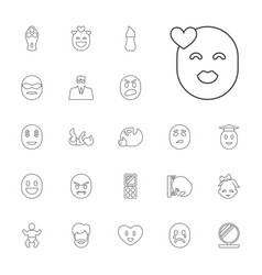 22 face icons vector