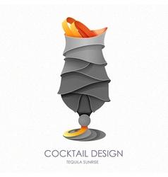 3D cocktail design vector