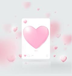 3d social network photo frame interface vector image