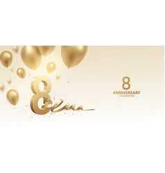 8th anniversary celebration background vector image