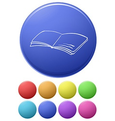 A big circle with an image of a book vector image