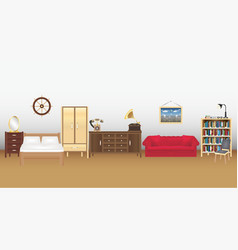a room wtih furniture many furniture vector image