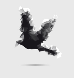 Abstract bird isolated on a white background vector image
