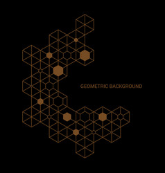 Abstract modern style geometric outline background vector