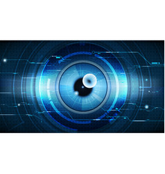 Abstract technological eye scanning security vector