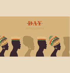 africa day template black people community vector image