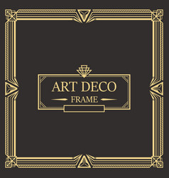 Art deco border frame 02 vector