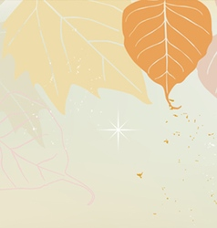 Autumn horizontal banner yellow vector image
