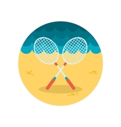 Badminton Racket flat icon vector image
