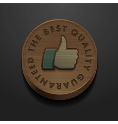 Best quality and guarantee icon vintage styled vector image
