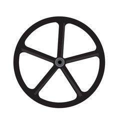 bike wheel silhouette vector image