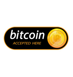 Bitcoin logo of crypto currency with an vector
