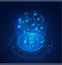 bitcoin technology vector image