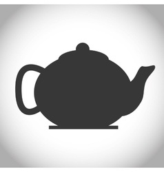 Black and isolated tea kettle design vector