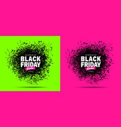 black friday sale banner purple color background vector image