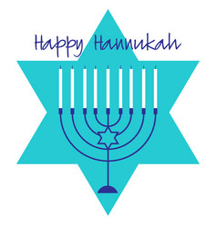Blue hannukah menorah graphic vector