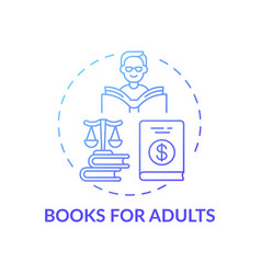 Books for adults concept icon vector