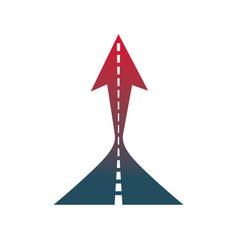 Boost up arrow graphic design element company vector