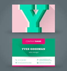 business card design template background vector image