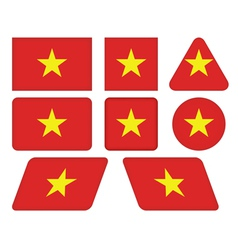 Buttons with flag of Vietnam vector
