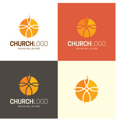 christian church logo and icon vector image