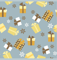 christmas seamless pattern with presents and vector image
