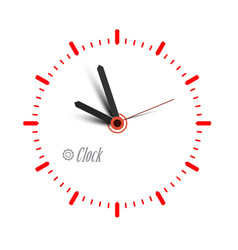 clock icon time symbol isolated vector image