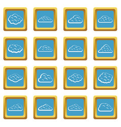 clouds icons azure vector image