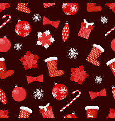 collection of christmas toys decoration vector image
