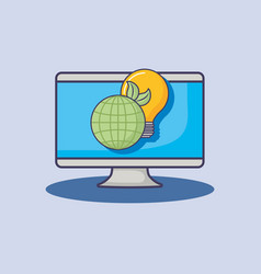 computer technology world ecology energy vector image