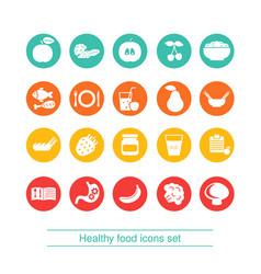 diet icon set diet icon set vector image