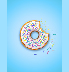Donuts american sweet vector