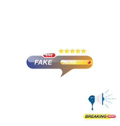 fake news icon for journalism of news tv channels vector image