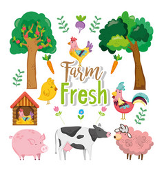 farm fresh concept vector image