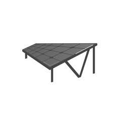 Flat solar panel photovoltaic module vector